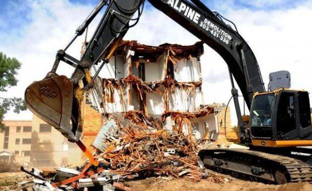 Lory Apartment Demolition CSU Fort Collins